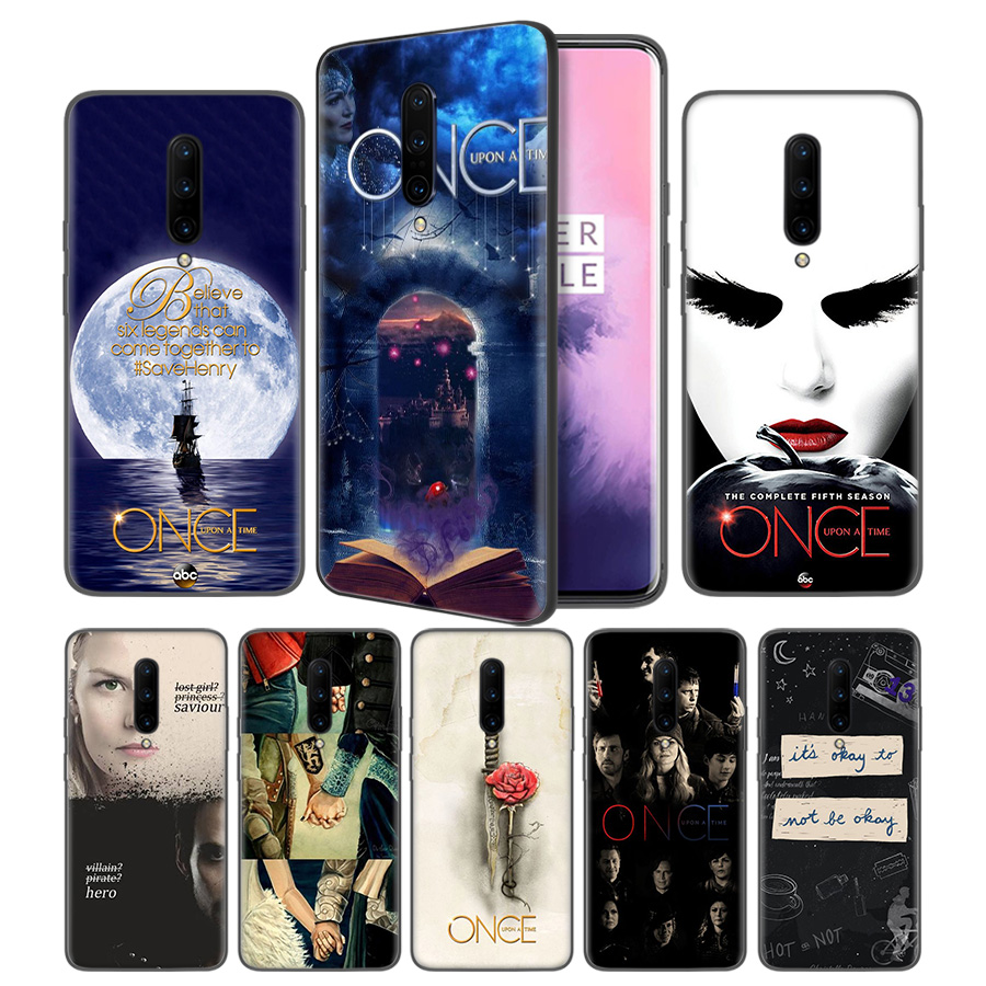 Once Upon A Time Soft Black Silicone Case Cover for font b OnePlus b font 6