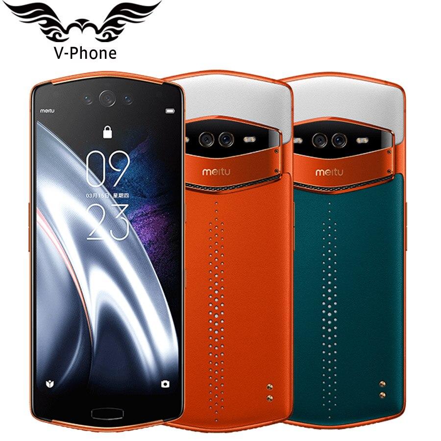 Meitu V7 6.21 Snapdragon 845 Octa Core 8 GB 128 GB 3 caméra avant + 2 Retour Caméra Android 9.0 meitu Selfie Beauté téléphone portable