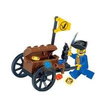 Пираты из серии Caribbean череп пиратский корабль капитан совместимые строительные блоки игрушки подарки Детские игрушки