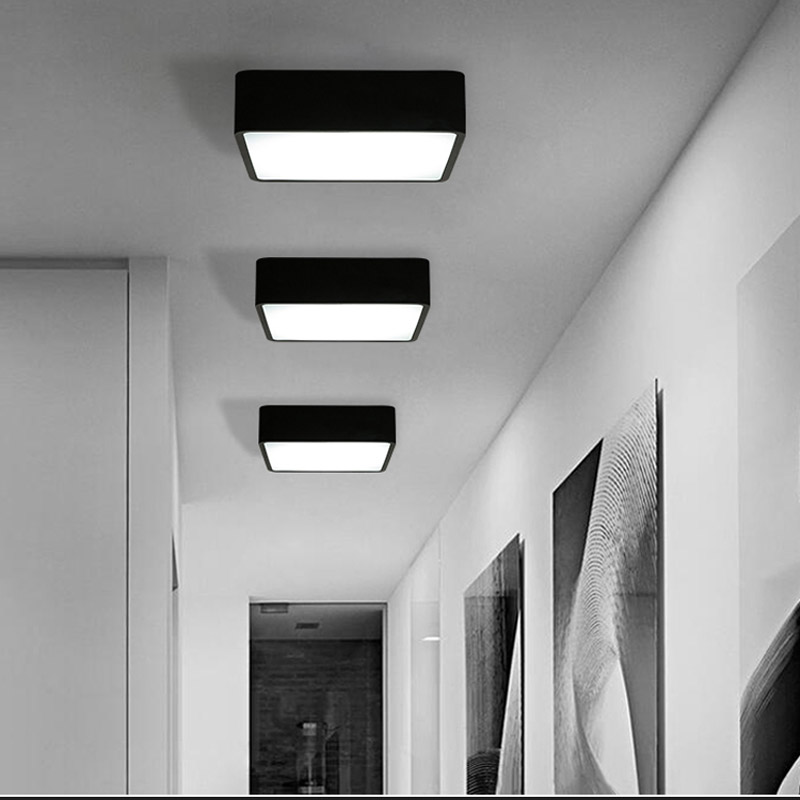 Modern square led ceiling light acrylic white black surface mount modern square led ceiling light acrylic white black surface mount lamp for balcony bedroom living room fixture lighting cl180 in ceiling lights from lights aloadofball Images