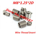 100 шт. M8 * 1.25 * 2D M8 х 2D нержавеющая сталь A2 провода нити вставку / M8 винт Bushing / провода винт рукав / ремонт