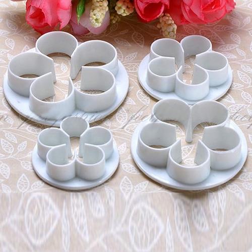 4Pcs/Set Rose Flower Cake decorating tools Cupcake Kitchen ...