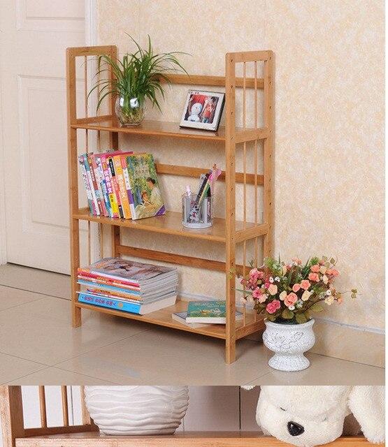 Explosion Models Bamboo Bookshelf Child Bookcase Simple Storage Rack File Holder Shelf