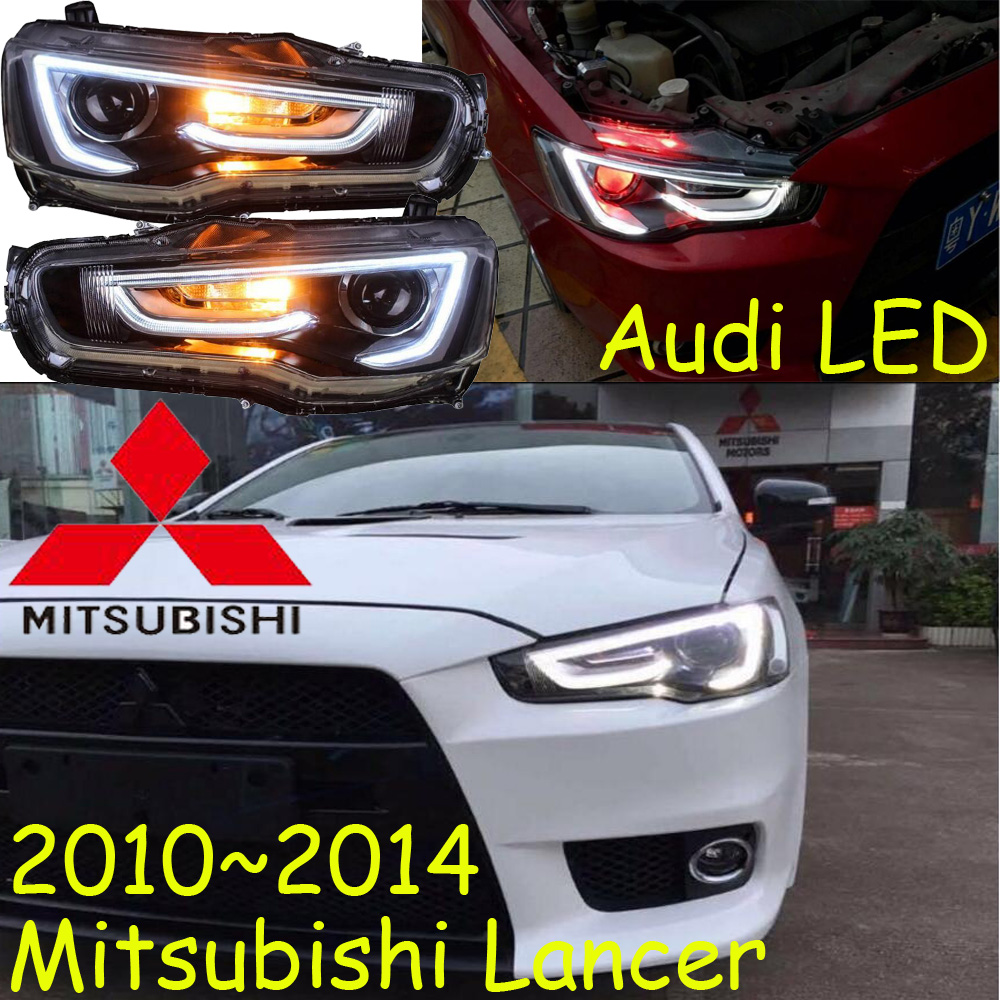 Mitsubish Lancer headlight2008~2015,Fit for LHD,Free ship! ASX,Lancer fog light,Lancer EX,LX,Outlander,galant,grandis