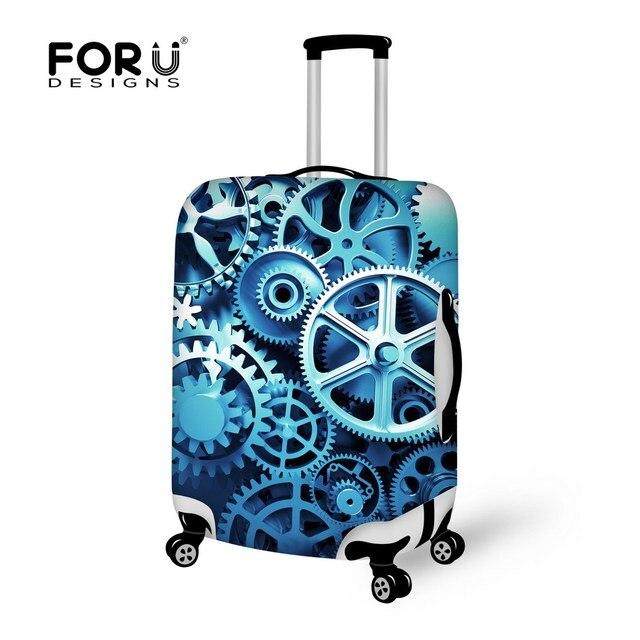 3D цифровой шаблон для багажа защитная крышка эластичный дорожного чемодана для 18 - 30 дюймов ствол чехол водонепроницаемый крышки багажника