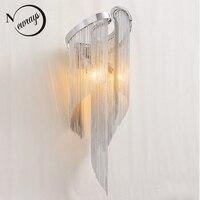 Винтаж ар деко алюминий Роскошный блеск кисточкой бра Лофт светодио дный E14 220 В настенный светильник для гостиной спальня прихожая кабинет