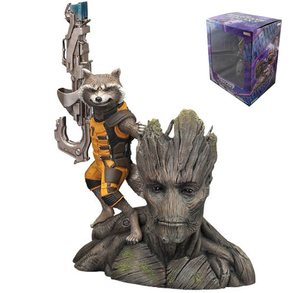 Guardians Galaxy  & Rocket Raccoon PVC Action Figure Collectible Model Toy 14CM Retail Box Packaged Free Shipping neca planet of the apes gorilla soldier pvc action figure collectible toy 8 20cm
