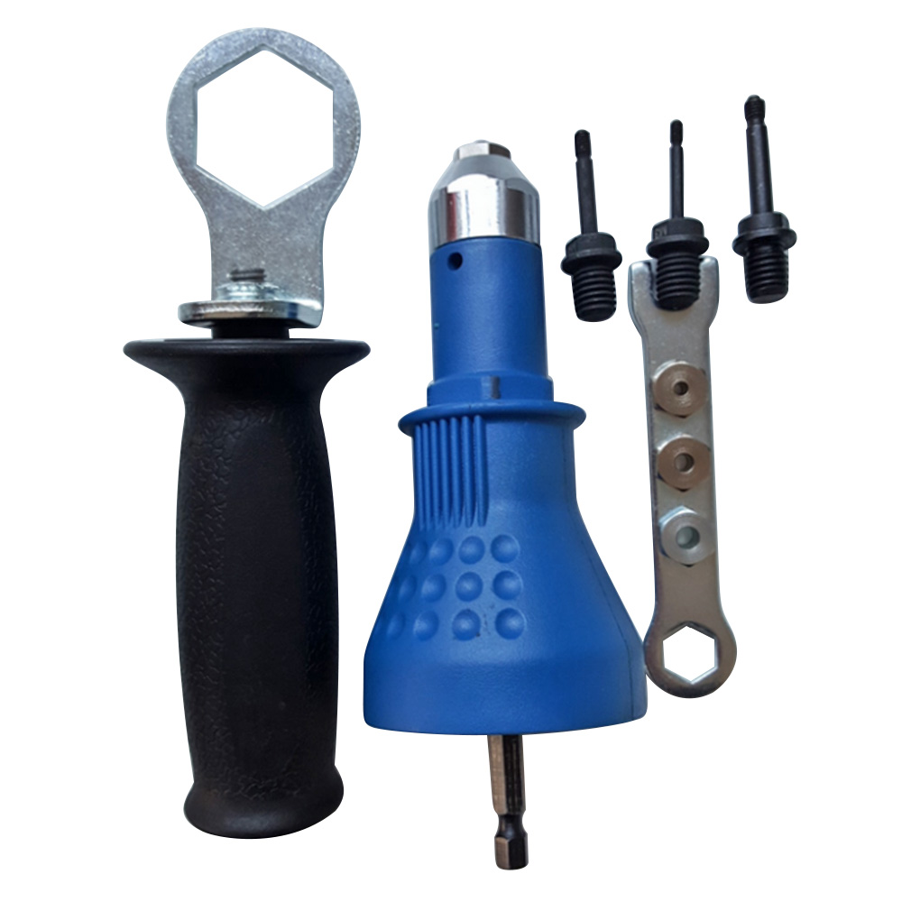 Electric Rivet Nut Gun Attachment Cordless Drill Adapter Insert Riveter Riveting Tool