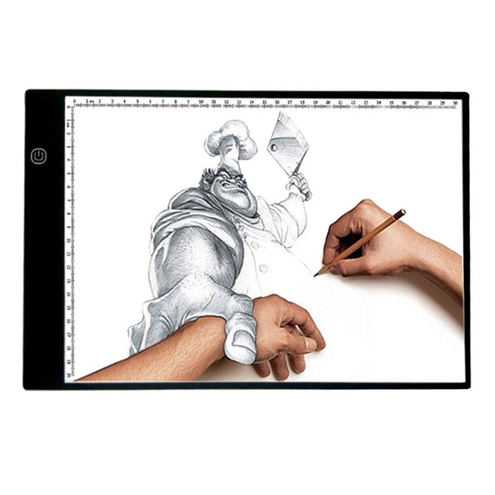 Cobee LED A4 Drawing Board Stencil 3 Gear Dimming Art Painting Pad Board Copy Table three level dimming a4 led writing painting light box copy table board drawing tablet child learn supplies copy table board