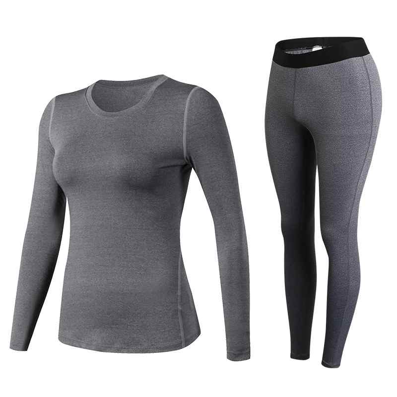 Hot Ladies 2 Pcs Sport Running Top Leggings Set Gym Yoga Long Pants Gym Trainning Clothing Quick Dry Female Sets Free Shipping ...
