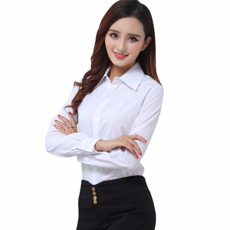 HTB1ZOjHNpXXXXXXaFXXq6xXFXXX9 - FREE SHIPPING White Blouse Shirt Women Work Wear Long Sleeve JKP092