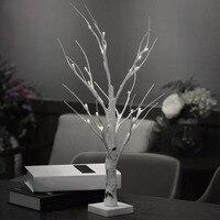 ICOCO 60 cm Silber Birke FÜHRTE Baum Lampe Landschaft Tisch Nachtlicht Festival Weihnachten Dekoration Geschenk Weiß/Warmweiß farbe
