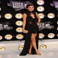 Selena Gomez Mtv Video Music Awards Black Lace Dress Celebrity Dresses high Neck Hi-Lo Chiffon Evening Gown