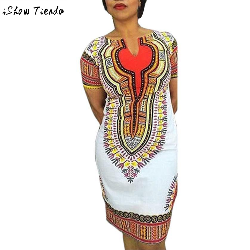 African Clothing For Women Short Sleeve Women African Print Dresses Ropa Africana Mujer #2804