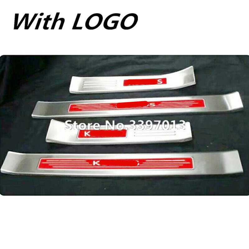 For Renault KOLEOS 2017 Door Sill Scuff Plate Welcome Pedal Stainless Steel Car Styling Accessories