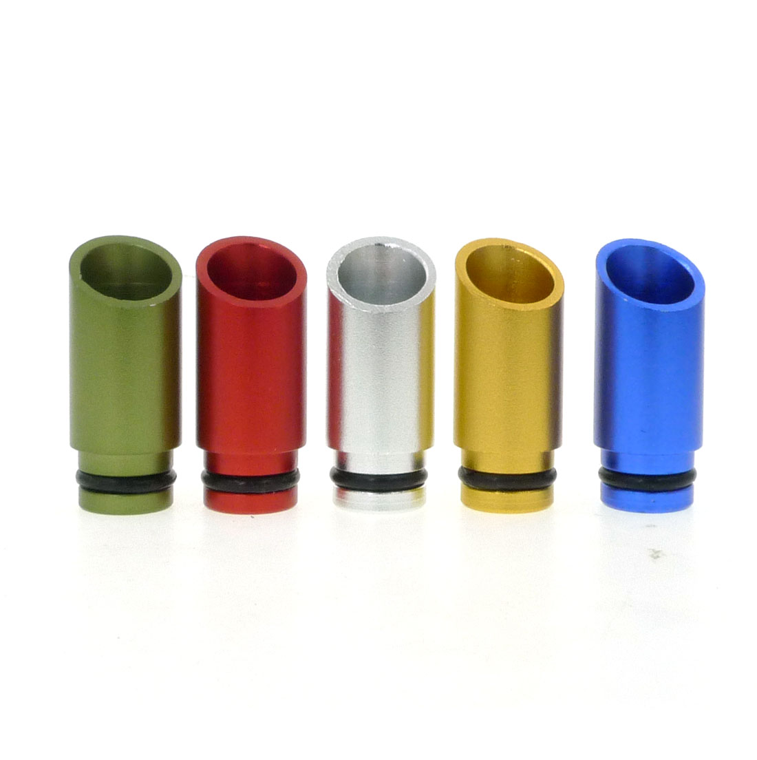Metal Aluminum Drip Tips Oblique Mouthpiece 510 Thread DripTip For Vape ATTY RDA RBA Mechanical Rebuildable Dripping Atomizer