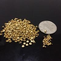 200 unids 3mm DIY pintado oro punk pico espárragos focos moda remache DIY Bolsas cinturón Zapatos Craft mini Remaches lindo remache envío libre