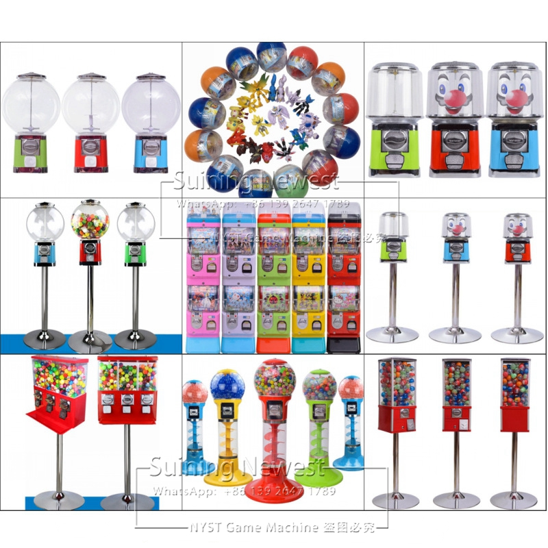 Good Quality Coin Operated Tabletop Gumball Vending Machine Desktop Capsule Vending Cabinet Toy Penny-in-the-slot Coin Vendor Entertainment Sports & Entertainment