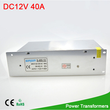 1Pcs 480W 40A lighting Transformers AC 100V 265V to DC 12V Power Converter Adapter Driver for