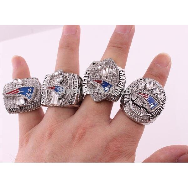 Prix pour Alliage anneaux ensembles pour 2001 2003 2004 2014 New England Patriots Super Bowl Football championnat anneaux