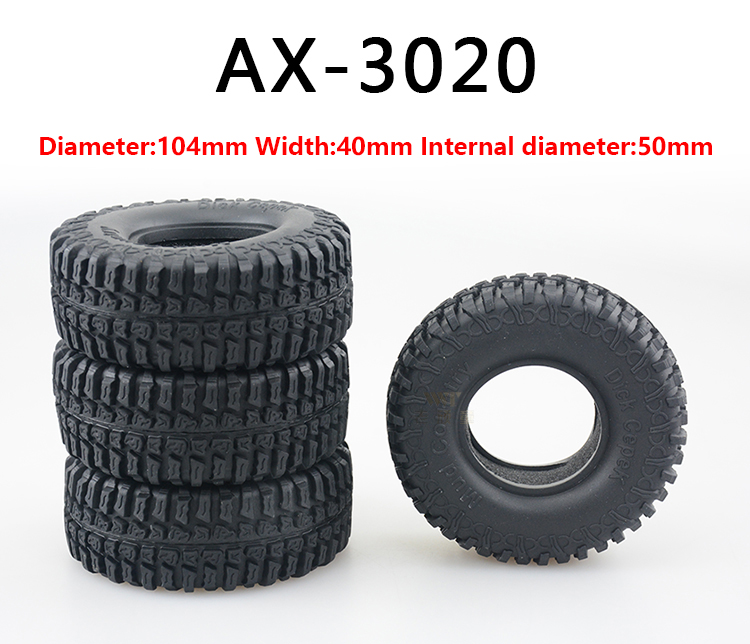 4PCS 1:10 climbing car many lines wear-resisting 1.9 inch tire skin with inner gallbladder for SCX10 AX10 universal application ...