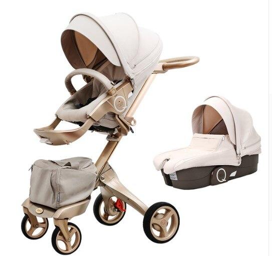 Hot maman haute paysage poussette assis dormir roues pneumatiques bébé poussette chariot landau