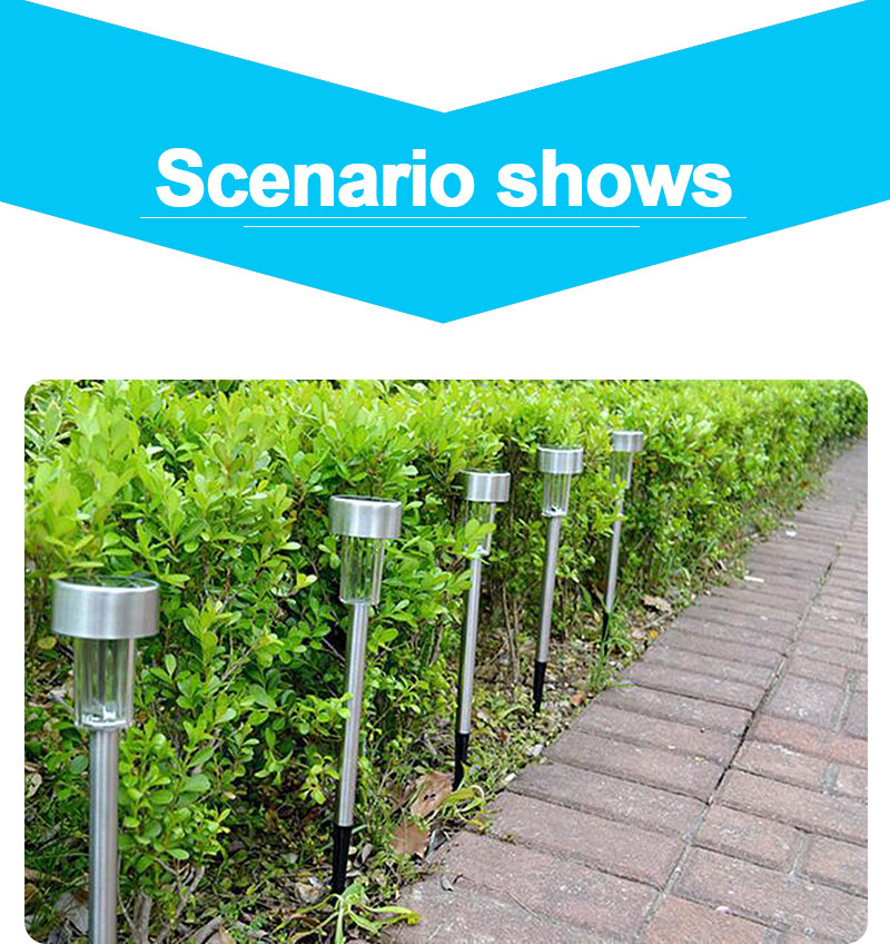 Outdoor Solar Light Colorful Changing Solar Lawn Light Garden Lamp Waterproof Stainless Steel Yard Path Lawn Lamp 17