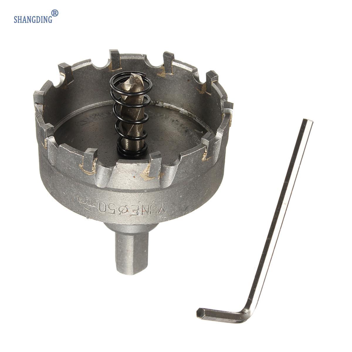 1 sada 48 mm karbidový hrot TCT vrták do kovu s vrtákem na kovovou - Vrták - Fotografie 5