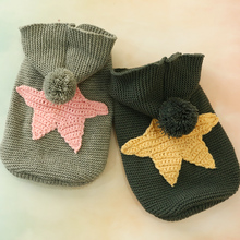 Warm Dog Sweater Teddy Puppy Nordic Starfish Pet Jumper Dog Clothes Dog Hood with Fur Ball XS S M L XL недорого