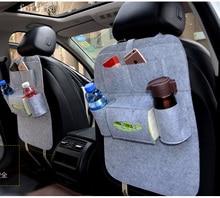BABAAI For KIA rio sportage ceed kia cerato soul black single Multi plush Pocket Storage Hanger Back Car Seat Cover bag
