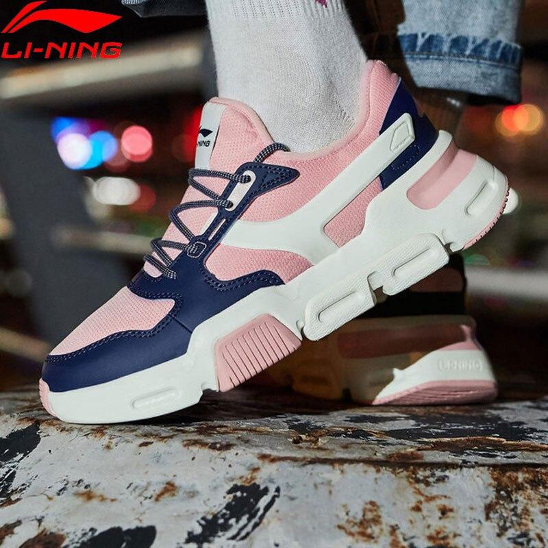 Li-ning marca estilo de vida clássico das mulheres sapatos wearable anti-deslizamento suporte retro tênis forro esporte sapatos de lazer agcn274 yxb250