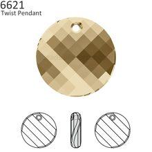 (1 piece) 100% Original Crystal from Swarovski 6621 Twist pendant Made in  Austria loose beads rhinestone for DIY jewelry making af1a58af12a7