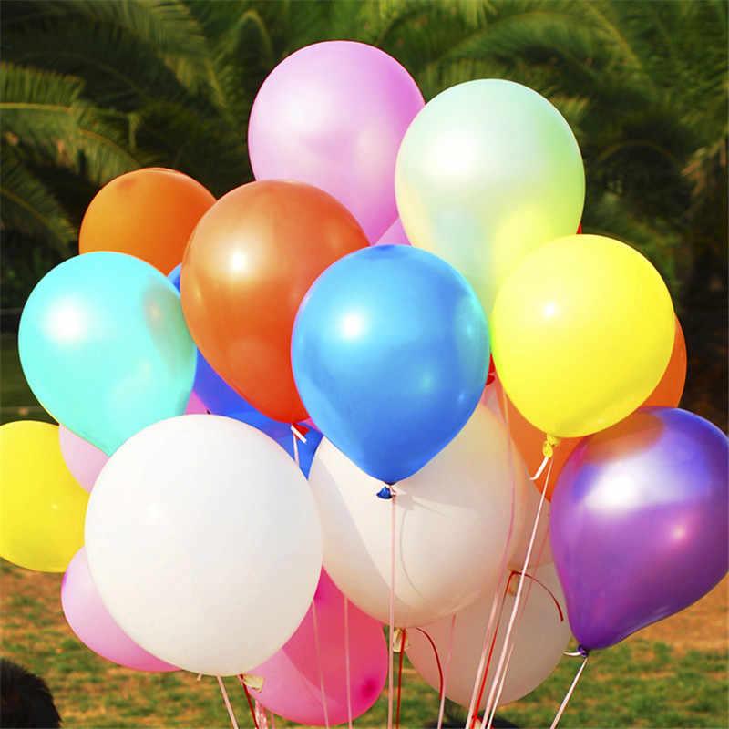 Wysokiej jakości 10 sztuk/partia 12 Cal kolorowe lateksowe perły balon nadmuchiwane dekoracje ślubne piłka powietrza akcesoria na przyjęcie urodzinowe
