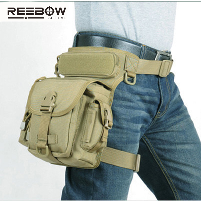Outdoor Multifunctional Tactical Drop Leg Bag SWAT Hunting Tool Waist Pack Motorcycle Sports Ride Men 1000D CORDURA Pack 2016 real multifunctional swat waist pack leg bag tactical outdoor sports ride waterproof military hunting bags wholesale