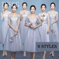 XS XXL IUSGG Summer Jacquard Embroidery High End Organza Dress Women Silver Grey Plus Size Slim