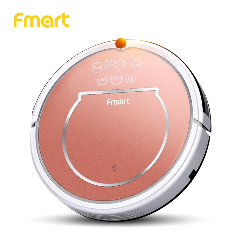 Fmart Intelligent Robot Vacuum Cleaner for Pet Hair  800pa Suction Dry and Wet Mopping Home Household HEPA Filter  YZ-Q1 intelligent d5501 robot vacuum cleaner with 180ml water tank 2 suction nozzle powerful wet