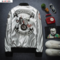 new style fashion men casual Printing fashion silver PU leather clothes men's jacket outwear stage wear performance costumes