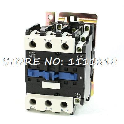 Motor Control AC Contactor AC-3 33KW 80A 3 Pole 36V Coil CJX2-5011 motor control ac contactor ac 3 37kw 80a 3p 3 pole 110v 120v coil