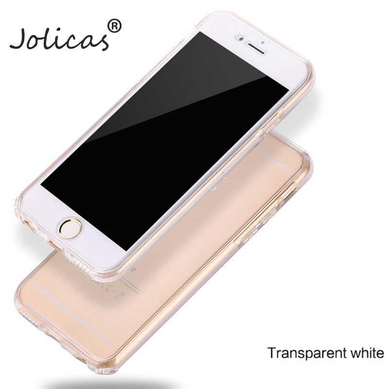 360 gradi full Body Cassa Del Telefono per il iphone 7 6 8 Più di X 5 5 s SE Molle Del Silicone di Tpu funda copertura per iPhone 8 6 s 7 Più Il caso di capa
