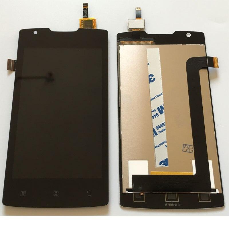 Negro/Blanco 4 pulgadas para Lenovo A1000 pantalla LCD + pantalla táctil digitizador Asamblea smartphone reemplazo