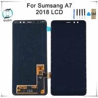 100% тестирование Дисплей для SAMSUNG для Galaxy A7 2018 A730 A730x ЖК дисплей Сенсорный экран планшета Запчасти для авто 5,5 дюймов + Инструменты