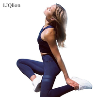LJQlion Yuga Sporting Suiting Summer Bra Set 2 Piece Female Short Sleeved Pants Outdoors Quick Drying