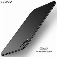 Huawei Enjoy 9 Case Silm Luxury Ultra-Thin Smooth Hard PC Phone For Back Cover Fundas *