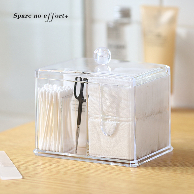 Plastic Travel Bag Organizer Cosmetic Storage Box Small Plastic Box with Cover Office Home Desktop Organizer Caixa Organizadora