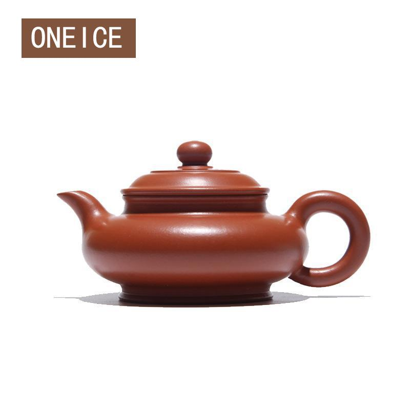 Chinese Yixing Teaware Teapots Tea Pot Kungfu Full Hand Made Virtual Flat Pot Teapots Zhu Mud