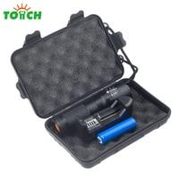 High Quality Cree Xml T6 Bulb Kit Led Flashlight Powerful Portable Zoom Hand Lantern With Black