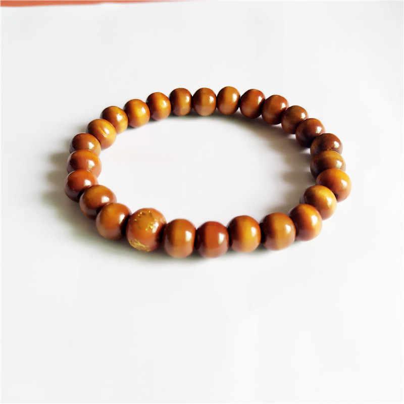 2018 chaude bracelet Ethnique style en bois perle bracelet extensible tour petit perles pour femmes et hommes bijoux couleurs chaîne bracelet