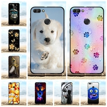For Huawei Y9 2018 Case Ultra-thin Soft TPU Silicone Cover Scenery Patterned Enjoy 8 Plus Coque