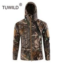 Зимняя тактическая флисовая утолщенная камуфляжная куртка мужская городская уличная походная альпинистская теплая ветрозащитная охотничья куртка