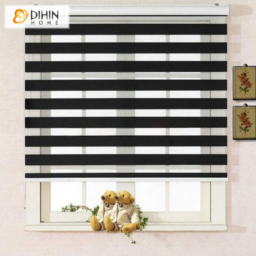 DIHIN HOME zebra blinds double layer roller blinds blackout curtain fabric curtain window curtain free shipping